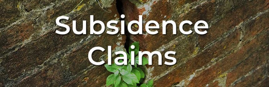 Help with subsidence claims